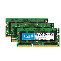3× Crucial 4GB DDR3L-1600 SODIMM CT51264BF160B