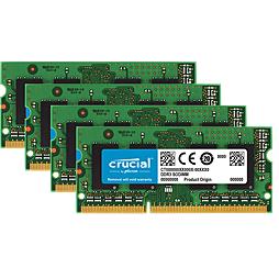 4× Crucial 4GB DDR3L-1600 SODIMM CT51264BF160B