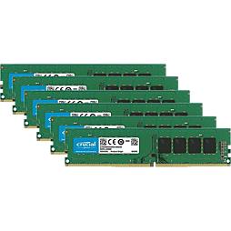 6× Crucial 4GB DDR3L-1600 LO-DIMM CT51264BD160BJ