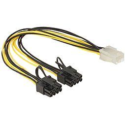 Napájecí kabel PCI Express 6 pin (F) > 2 x 8 pin (M)