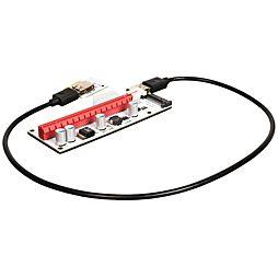 Nový Riser, bílá verze PCIe x1 na PCIe x16 (VER 008S) PCE164P-N06