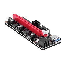 Nový Riser, černá verze PCIe x1 na PCIe x16 (VER 009S) PCE164P-N08