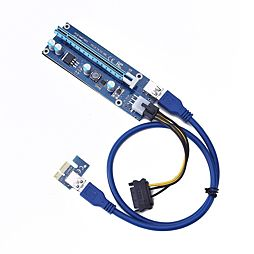 Nový Riser, modrá verze PCIe x1 na PCIe x16 (VER 006C) PCE164P-N03
