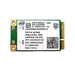 WiFi Intel 5100 pro Lenovo ThinkPad X200 X201 X300 X301 T400 T500 R500 SL500 W500 W700 FRU: 43Y6493