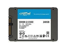 SSD 240GB, Crucial BX500, záruka 36 měsíců